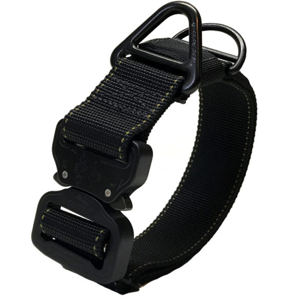 """Miles Tactical Dog Collar with Cobra Buckle 1.5"""""""
