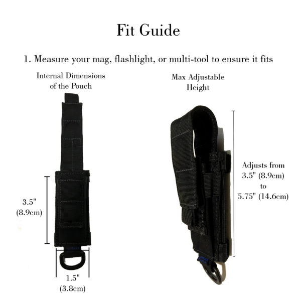 multi tool pouch fit guide