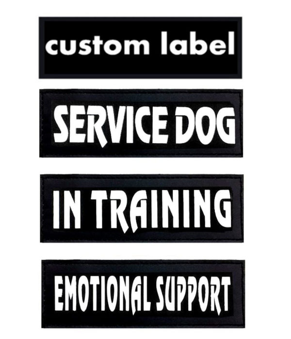 Dog Patches for Dog Collar or Harness Customized